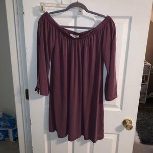 Flowy loose fitting long sleeve dress